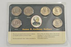 Historical Photos Circulating Depict Women Historic Coin Collection Susan B Anthony Dollars Nicely Packed