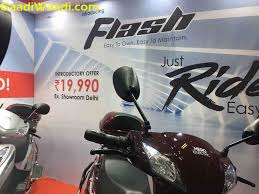 hero flash electric scooter launched at rs 19 990 specs pics