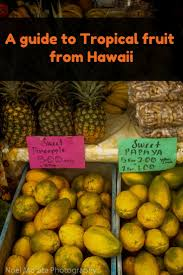 Tropical Island Resort Peel And Fruit From Hawaii