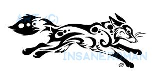 running fox tribal design by insaneroman on deviantart