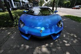 chrome blue lamborghini aventador lamborghini aventador wrapped in blue chrome brushed