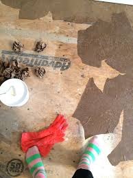 paper bag flooring chaotically creative