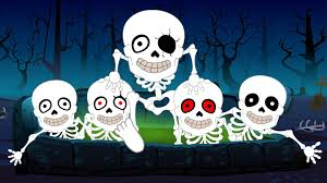 five little skeletons nursery rhymes for kids children and