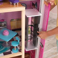 How To Make Dollhouse Furniture Out Of Household Items Kidkraft Uptown Dollhouse With 36 Accessories Walmart Com