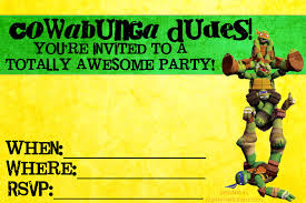 teenage mutant ninja turtles birthday invitations blueklip com