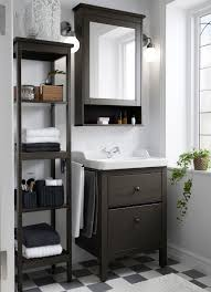 ikea small sinks small traditional bathroom with hemnes washstand shelf and mirror cabinet brown furniture