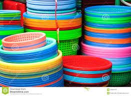 plastique cuisine fond en plastique coloré de vaisselle de cuisine image stock