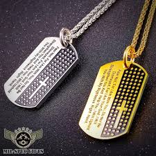 bible necklace bible verse dog tag necklace milspecgifts