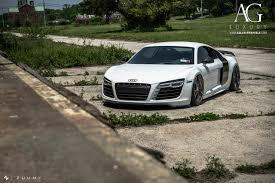 Audi R8 White - ag luxury wheels audi r8 forged wheels