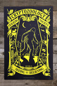 glow in the dark poster cryptozoology glow in the dark poster 12 por maidenvoyageclothing
