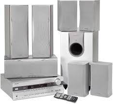 onkyo 7 1 home theater system onkyo ht sr800 silver home theater audio system with 7 speakers