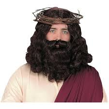 biblical halloween costumes amazon com jesus wig and beard costume accessory clothing