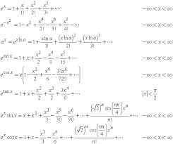 Gaussian Integral Table Taylor Series Expansions Of Exponential Functions