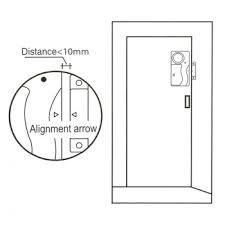Interior Door Alarms Wireless Anti Theft Monitor Remote Home Security Alarm