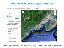 ideal resort map naga city cebu 113 hectares lot ideal for mountain resort development