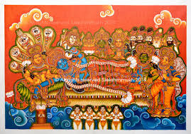 Mural Painting On Canvas by Slekshmimukh