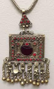 pendant middle eastern kuchi silver necklace handmade