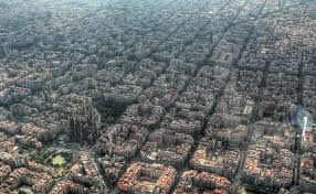 barcelona city view from above