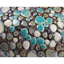Porcelain Pebble Mosaic Tiles Wall Designs Ceramic Tile Flooring - Pebble backsplash