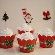 Christmas Cake Decorations Wholesale by Classic Christmas Dress Up Paper Cupcake Wrappers Decorating Boxes