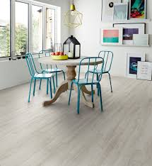 Bianco Oak Camaro Luxury Vinyl Tile Flooring Featured In Dining - Dining room tile