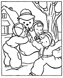 snowball winter themed coloring pages winter coloring pages