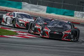 one two three win for new audi r8 lms at sepang quattroworld