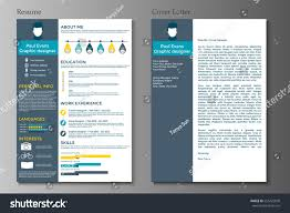 resume and cover resume cover letter flat style design stock vector 555425878 resume and cover letter in flat style design on grey background cv set with infographics