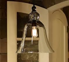 bell shaped lighting pottery barn