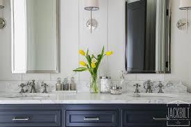 Navy Blue Bathroom Vanity Navy Dual Bathroom Vanity With White Marble Top Transitional