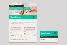 Sports Massage Business Cards Daniel Eris Graphic And Web Design