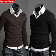 formal sweaters gurunvani autumn s arrival v neck sweater casual