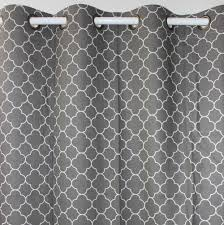 98 Inch Curtains New Grey Geometry Linen Cotton Window Ready Curtains Panel