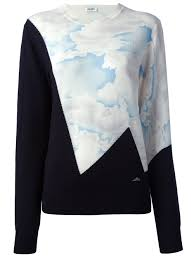 cloud sweater lyst kenzo cloud sweater in blue