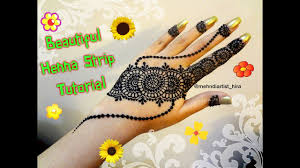 how to apply easy simple henna mehndi designs strip bail for