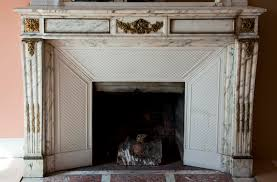 beautiful antique louis xvi style fireplace made out of grey