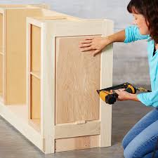 use a spacer to set the height of the end panel on the island