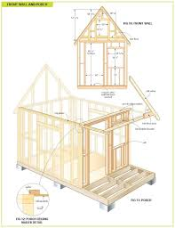 completely free 108 sq ft cottage wood cabin plans tiny houses