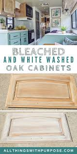 how to clean oak wood cabinets diy farmhouse look bleached and white washed oak cabinets