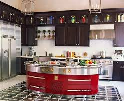 Red And Black Kitchen Cabinets by Colorful Kitchens With Charisma Traditional Home