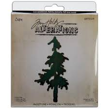 sizzix tim holtz alterations bigz die snow tree tim
