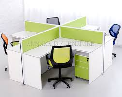 china modern melamine x shape office cubicle for 4 people sz