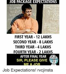 Year 12 Memes - jobpackage expectations first year 12 lakhs second year 8 lakhs