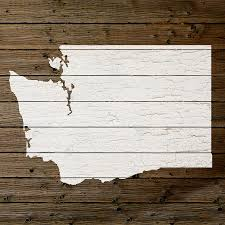 Washington State Map Outline by Map Of Washington State Outline White Distressed Paint On