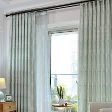Teal Living Room Curtains Lime Green Botanical Print Linen Cotton Blend Contemporary Living