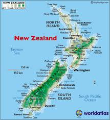 map world nz new zealand large color map