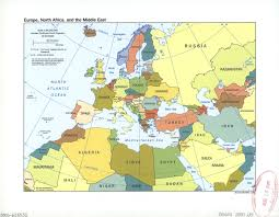 Africa Map Political by A Political Map Of Africa Showing Countries And Adjoining At