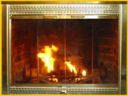 Polished Brass Fireplace Doors by Glass Fireplace Doors A M Energy Fires