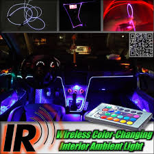 Custom Interior Lights For Cars Wireless Ir Control Car Interior Ambient 16 Color Changing Light