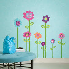 Giant Wall Stickers For Kids Cheery Flower Wall Decals Ideas Decoration Furniture